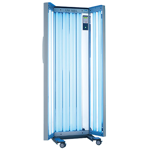 waldmann uv100 vertical uv phototherapy treatment panels for psoriasis & eczema using uva or uvb lamps