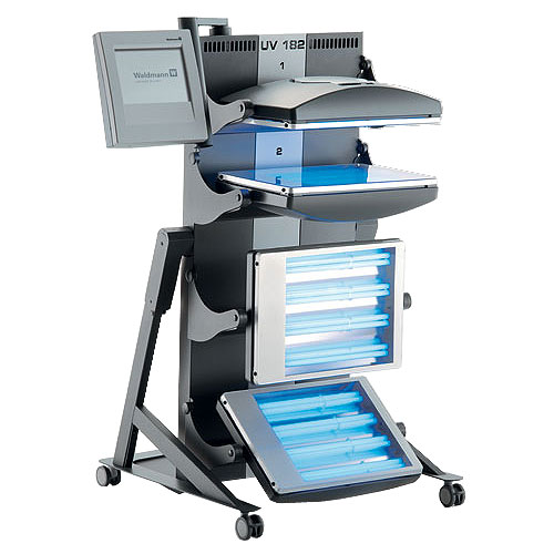 waldmann uv182 hand & foot phototherapy system for psoriasis & eczema using uva or uvb lamps